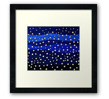 Metallic Blue Background with Shiny Dots Framed Print