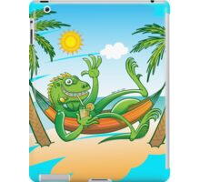 Lazy Iguana Summer on the Beach iPad Case/Skin