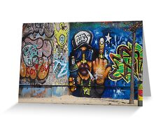 Cool Graffiti Artist Greeting Card
