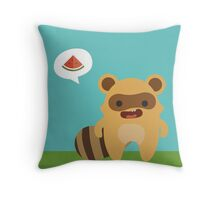 Mapuski Raccoon COLOR Throw Pillow