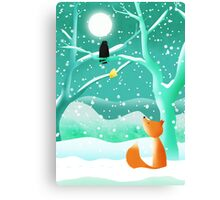 The Fox and the Crow Canvas Print