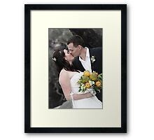 Newly wed kiss Framed Print