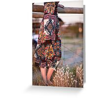 Dress and Grass Greeting Card