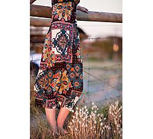 Dress and Grass Photographic Print