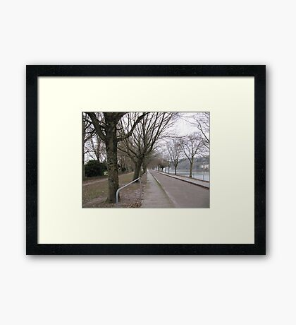 Walk by the Lee Framed Print