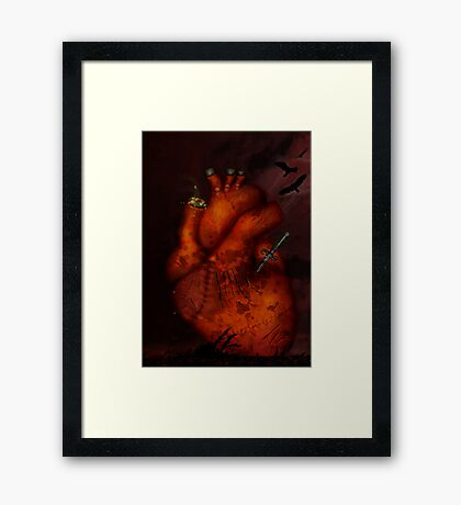 What Heart Are You? No 3: Tortured Heart Framed Print
