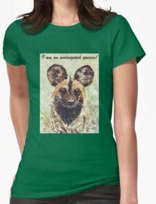 I am an endangered species! Womens Fitted T-Shirt