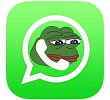 pepe - tfw no missed calls after your phones been off for weeks, not even from your mom.  Photographic Print