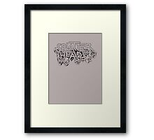 Splatterheads (black) Framed Print