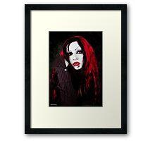 a vampires portrait  Framed Print