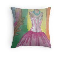 Princess dress Throw Pillow