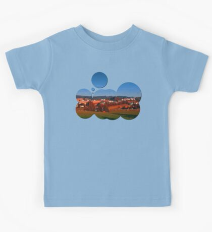Small rural town skyline at sunrise   landscape photography Kids Tee