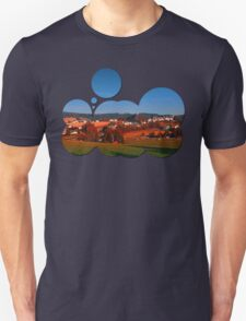 Small rural town skyline at sunrise   landscape photography Unisex T-Shirt
