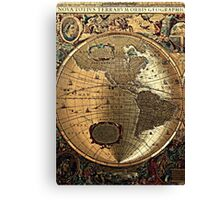 Old Map Canvas Print