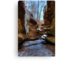 Trail 3 - Canyon Icicles Canvas Print