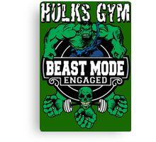 Hulks Gym - Beast Mode Engaged Canvas Print