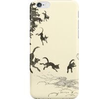 Snowdrop & Other Tales by Jacob Grimm art Arthur Rackham 1920 0198 Black Cats and Dogs from Every Corner iPhone Case/Skin