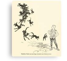 Snowdrop & Other Tales by Jacob Grimm art Arthur Rackham 1920 0198 Black Cats and Dogs from Every Corner Metal Print