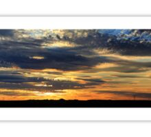 Thorny Croft's Paintbrush Sunset, Free state, South Africa Sticker