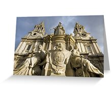 St. Paul's Cathedral & H.M.Queen Anne (1665-1714 AD) Greeting Card