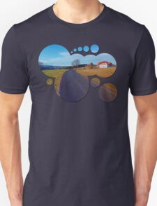 Country road, scenery and blues sky | landscape photography Unisex T-Shirt