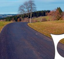 Country road, scenery and blues sky | landscape photography Sticker
