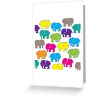 Baby Elephants - Multicolor Greeting Card