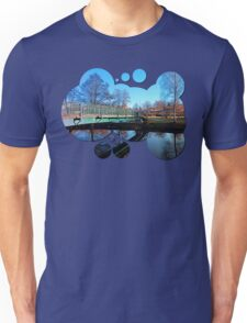 A bridge, the river and reflections II | waterscape photography Unisex T-Shirt