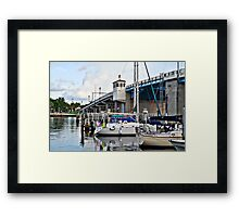 Sail boats docked in fort lauderdale florida Framed Print