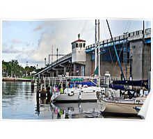 Sail boats docked in fort lauderdale florida Poster