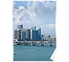 Miami Beach Skyline Poster