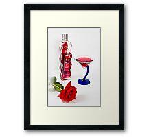 Rose's  Cocktail Framed Print