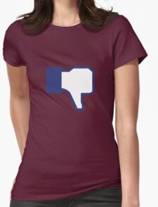 Dislike - Facebook Womens Fitted T-Shirt