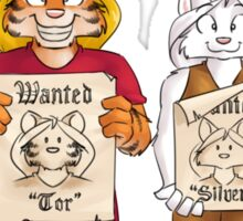 Wanted posters Sticker