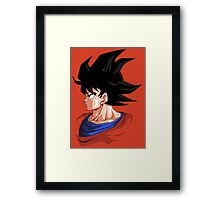 Profile of Goku - Dragon Ball Framed Print