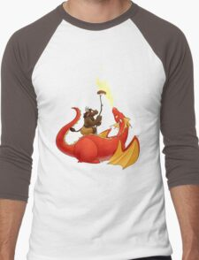 Dragon barbecue Men's Baseball ¾ T-Shirt
