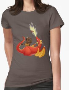 Dragon barbecue Womens Fitted T-Shirt