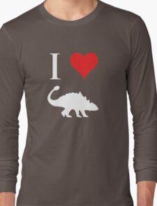 I Love Dinosaurs - Ankylosaurus (white design) Long Sleeve T-Shirt