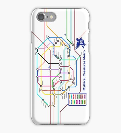 Epic Mythical Creatures Underground Map iPhone Case/Skin