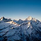 Zinalrothorn and Weisshorn by peterwey