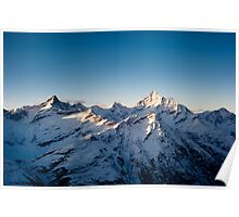 Zinalrothorn and Weisshorn Poster