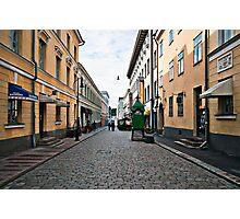 Helsinki City Street Scene Photographic Print