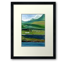 Connemara Mountain Landscape, Ireland Framed Print