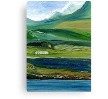 Connemara Mountain Landscape, Ireland Canvas Print
