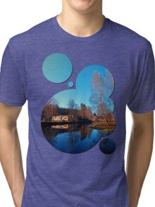 Winter mood on the river II | waterscape photography Tri-blend T-Shirt