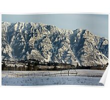 Waiting For Summer - Skimmerhorn Mountains, Creston, BC, Canada Poster