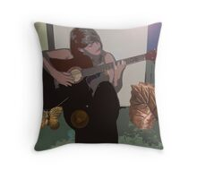 Faded Notes Throw Pillow