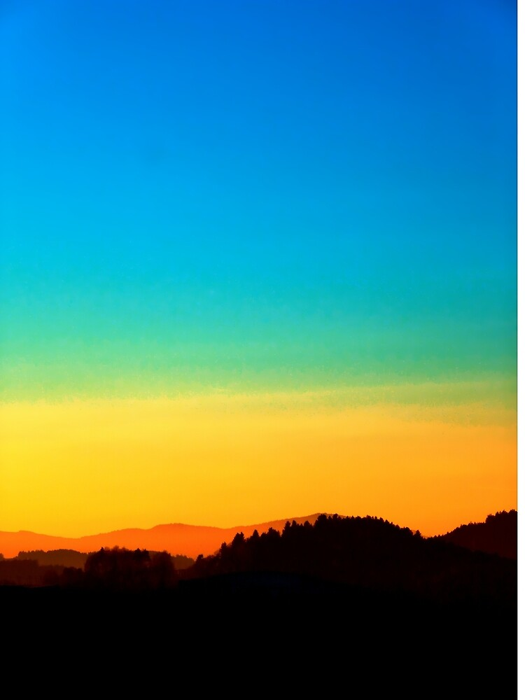 Colorful sundown scenic view   landscape photography by Patrick Jobst