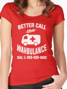 Better call the wahbulance - dial 1800 boo hoo Women's Fitted Scoop T-Shirt