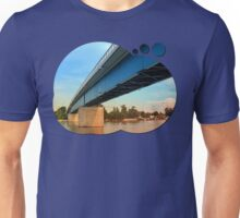 Bridge across the river Danube | architectural photography Unisex T-Shirt